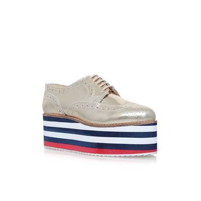 Gold klash high heel lace up shoes