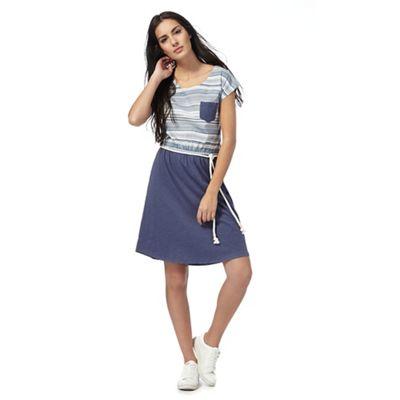 Blue stripe top dress