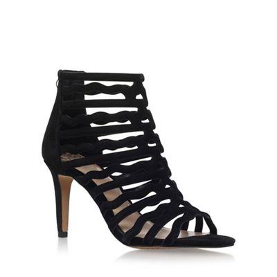 Black 'Crystila' high heel sandals