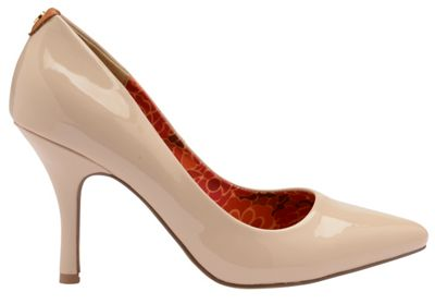 V&A Nude Patent 'Helena' ladies court shoes