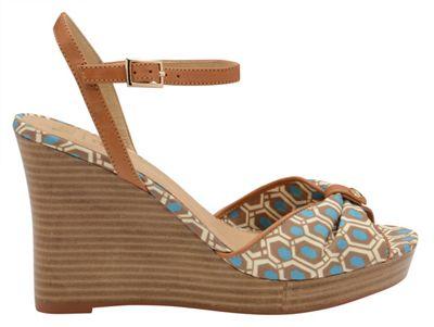 V&A Aqua 'Beatrice' ladies peep toe wedges