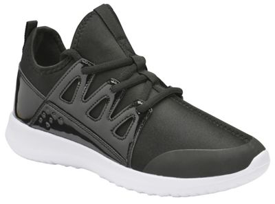 Black 'Hensley' ladies casual lace up trainers