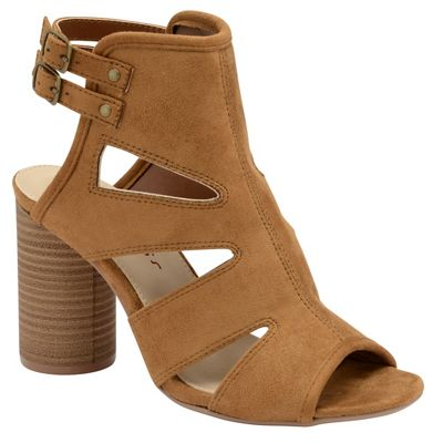 Tan 'Valarie' ladies high heeled strappy sandals