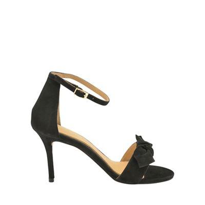 Black 'Grayston' ladies suede ankle strap sandals