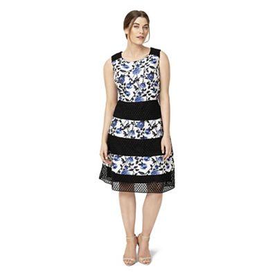 Sizes 12-26 Multi-coloured naples dress