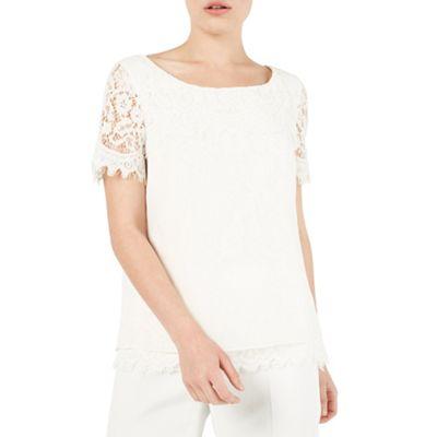 Petite lace blouse