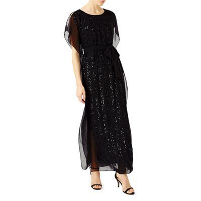 Sequin column maxi dress