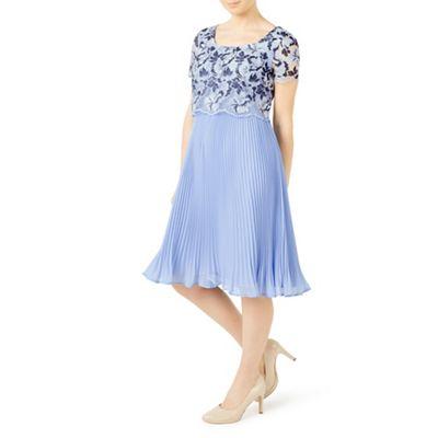 Petite floral plisse dress