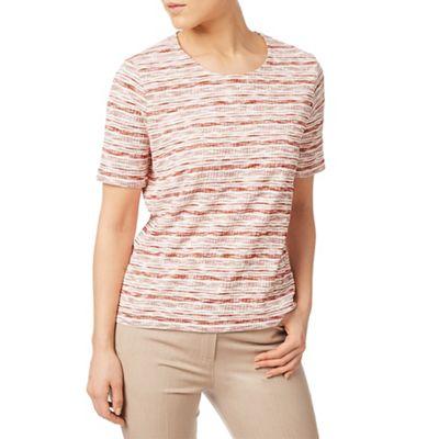 Textured stripe jersey top