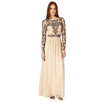 Champagne electra full length dress