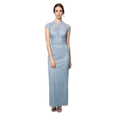 Blue ramona lace full length dress