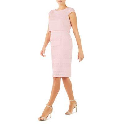 Pale pink geo lace shelf dress