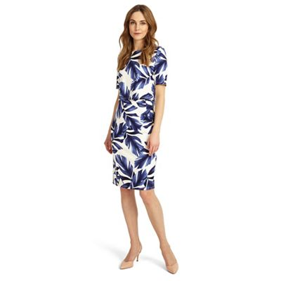 Eloise palm print dress