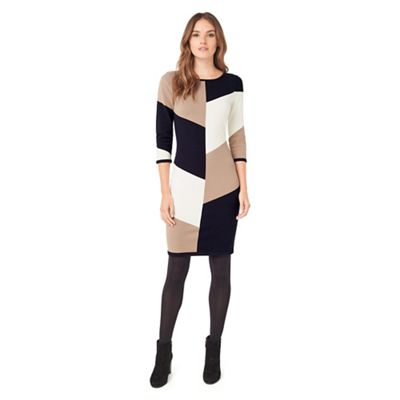 Abriana Block Knit Dress