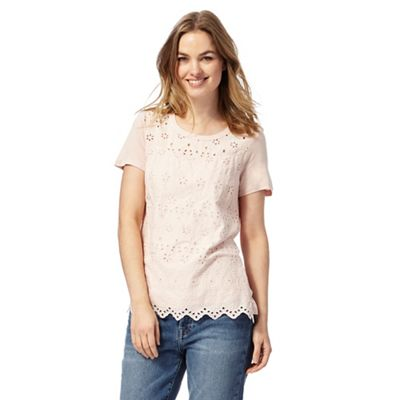 Pink broderie top