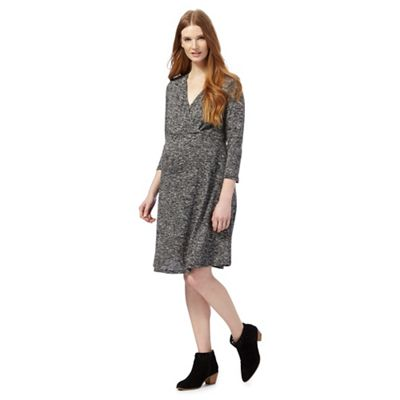 Dark grey knee length dress