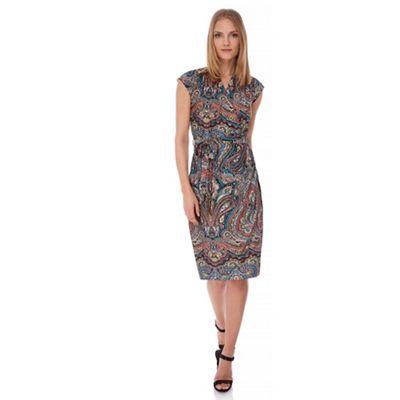 Yumi Multicoloured Paisley Print Wrap Dress