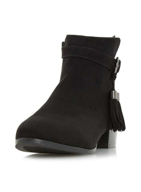 ** Head Over Heels 'Patrice' Black Ankle Boots