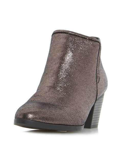 ** Head Over Heels 'Peta' Grey Ankle Boots