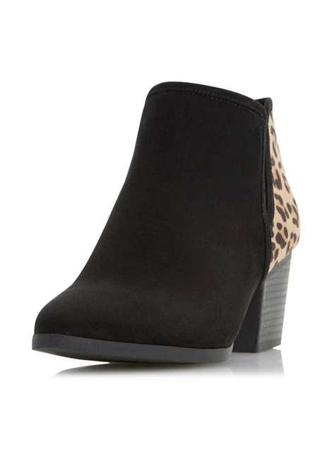 ** Head Over Heels 'Peta' Black Ankle Boots