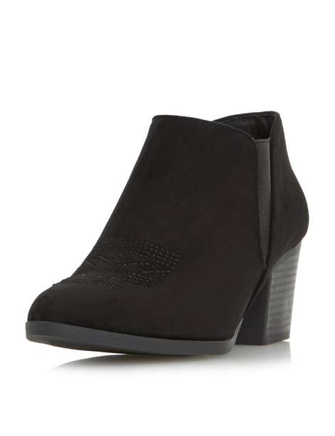 ** Head Over Heels 'Poppys' Black Ankle Boots