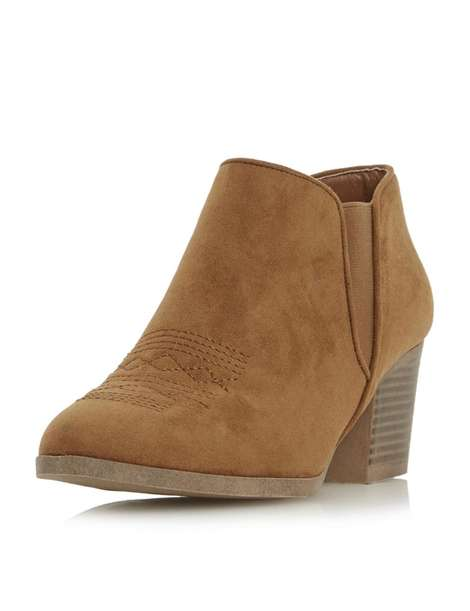 ** Head Over Heels 'Poppys' Tan Ankle Boots
