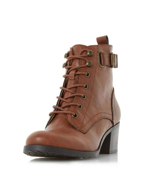 **Head Over Heels Dune Priya Tan Ankle Boots