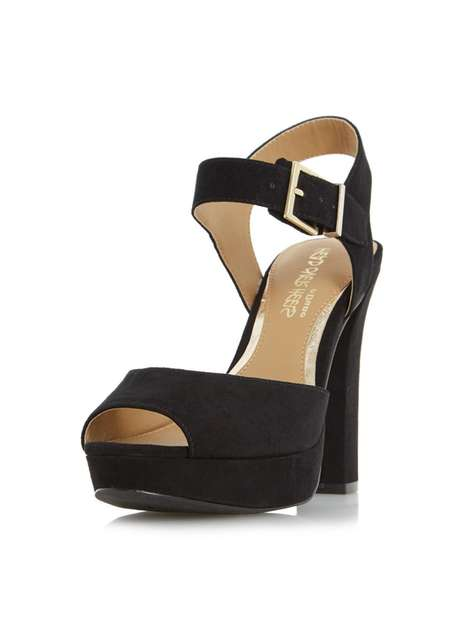 **Head Over Heels 'Myli' Black High Heel Sandals