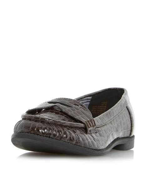 ** Head Over Heels 'Guilia' Grey Flat Shoes