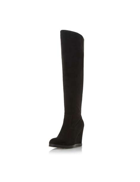 **Head Over Heels Dune Black 'Sonia' Wedge Boots