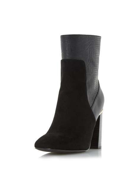 **Head Over Heels Dune Ren Black Ankle Boots