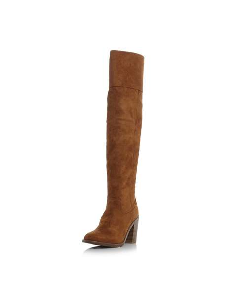 **Head Over Heels Dune Tan 'Trin' Heeled Boots