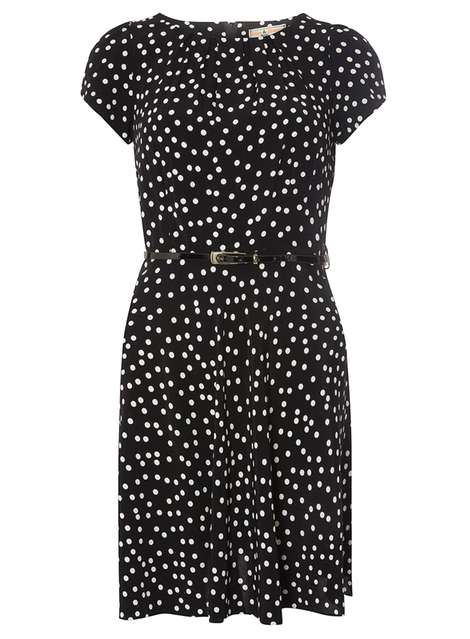 **Billie & Blossom Petite Black Spot Dress