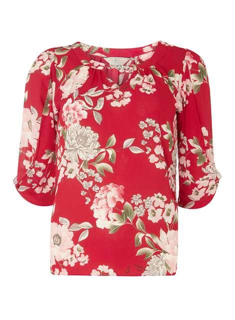 4654a5796   BIllie   Blossom Pink Floral Bubble Top
