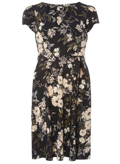 1ef0ba868f440 **BIllie & Blossom Black Butterfly Floral Dress