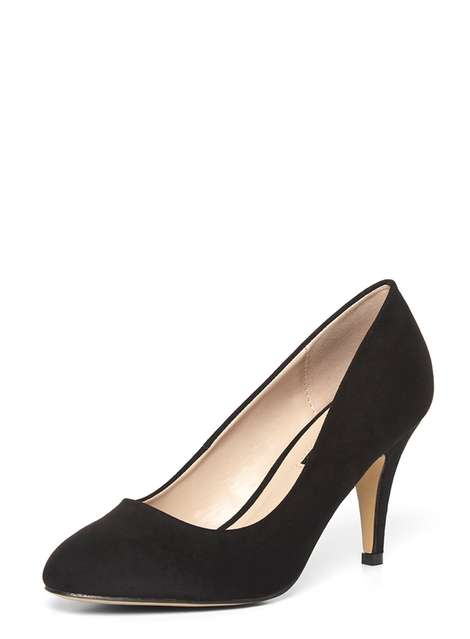 'Claudia' Black Workwear Court Shoes