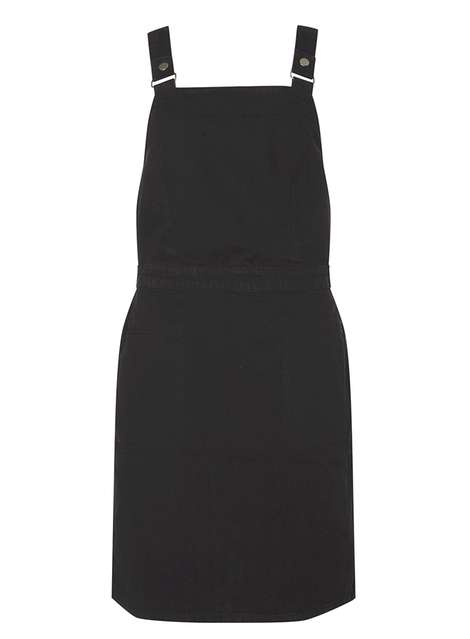 **Tall Clean Black Pinafore