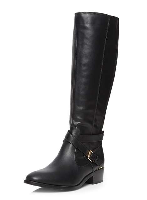 **Wide Fit Black Wrist Knee Boot