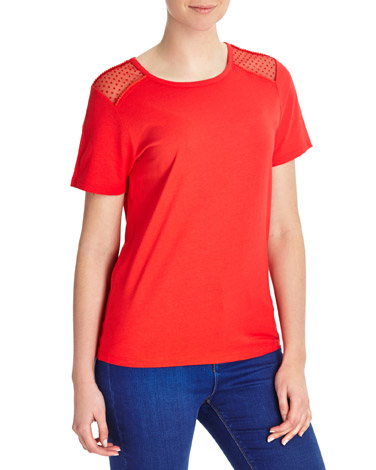 Mesh Insert T-Shirt