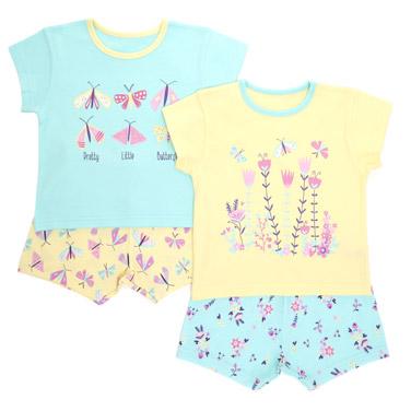 Baby Girls Pyjama Set - 2 Pack