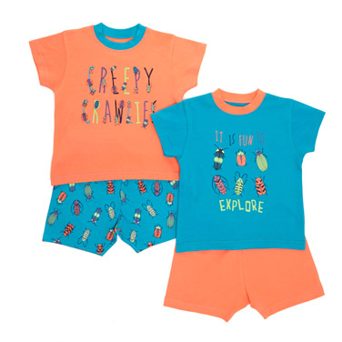 Baby Boys Short Pyjama Set - Pack Of 2