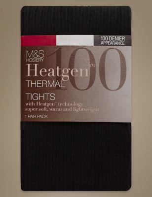 3e6a08a20e 100 Denier Heatgen trade  Ribbed Opaque Tights