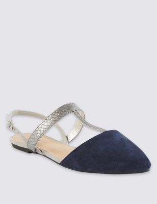 fb44c5ee5e00 T-Bar Slingback Court Shoes with Insolia Flex®