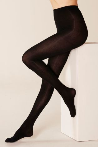 Black Thermal Warm Handle Tights