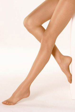 15 Denier Matt Golden Tan Tights Three Pack