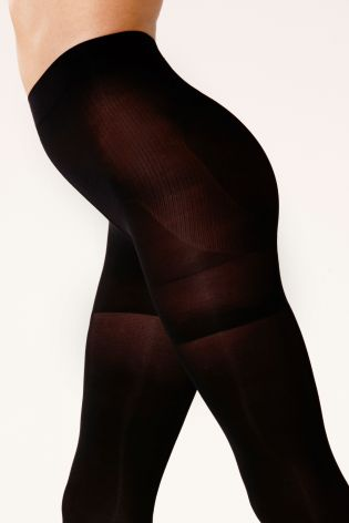 Black 80 Denier Bum, Tum And Thigh Shaping Tights