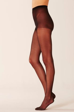 Black 15 Denier Warm Toes Tights