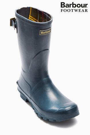 Barbour® Navy Short Jarrow Wellington Boot