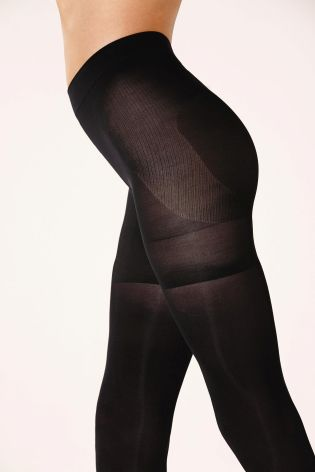 Bum, Tum And Thigh Shaping Black 60 Denier Tights