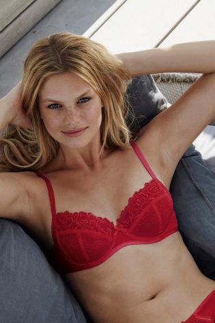 Red Cream Lizzie Non Padded Embroidery Bras 2 Pack cb84a444a